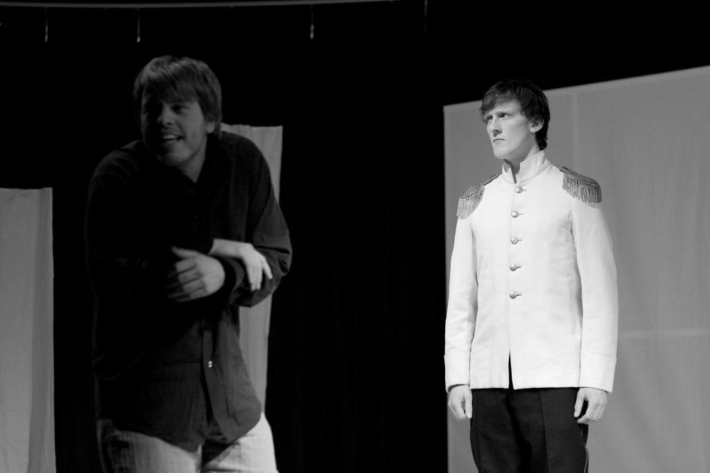"""Inszenierung von """"Minna von Barnhelm"""" im Februar 2011."""