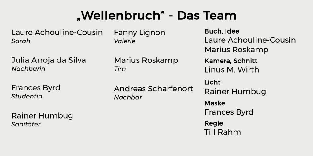 """Das Team der Filmproduktion """"Wellenbruch"""""""